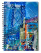 Williamsburg Street Abstract Spiral Notebook