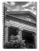 Williamson County Courthouse Bw Spiral Notebook