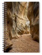 Willis Creek Slot Canyon 1 - Grand Staircase Escalante National Monument Utah Spiral Notebook