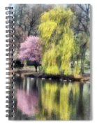Willow And Cherry By Lake Spiral Notebook