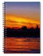 Willow Rd Sunset 2.27.2014 Spiral Notebook
