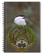 Willow Tits Planet Spiral Notebook