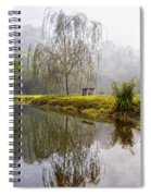 Willow Tree At The Pond Spiral Notebook