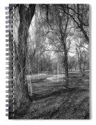 Willows In Spring Park Spiral Notebook