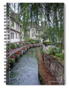 Willows Over The River Spiral Notebook