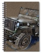 Willys Car Drawing Spiral Notebook