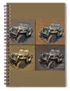 Willys Jeep Mb Car Drawing Spiral Notebook
