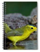 Wilsons Warbler Wilsonia Pusilla Spiral Notebook