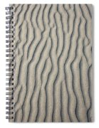 Wind Makes Patterns On The Beach Spiral Notebook