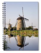 Wind Mills Next To Canal, Holland Spiral Notebook