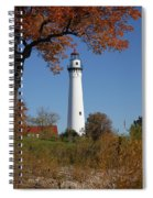 Wind Point Lighthouse 74 Spiral Notebook