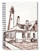 Wind Point Lighthouse Drawing Mode 1 Spiral Notebook