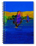 Wind Surf Lessons Spiral Notebook
