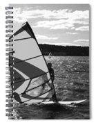 Wind Surfer II Bw Spiral Notebook