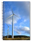 Wind Turbine Farm Spiral Notebook