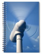Wind Turbine Rotating Close-up Spiral Notebook
