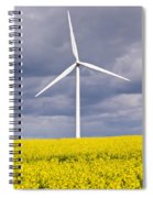 Wind Turbine With Rapeseed Spiral Notebook