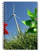 Wind Turbines And Toys Spiral Notebook