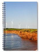 Wind Turbines On Atlantic Coast Spiral Notebook