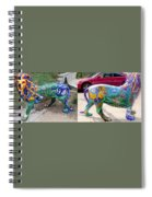 Winding Earth Camo Lion Spiral Notebook