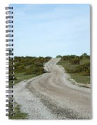 Winding Gravel Road Through A Landscape With Lots Of Junipers Spiral Notebook