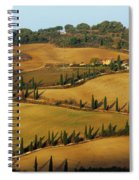Winding Road And Cypress Trees In Tuscany 1 Spiral Notebook
