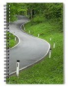 Winding Road In The Woods Spiral Notebook