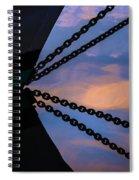 Windjammer Schooner Appledore Bobstays In Abstract Spiral Notebook