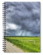 Windmill And Country Road With Storm Spiral Notebook
