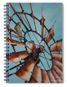 Windmill And Hawk Spiral Notebook