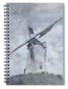 Windmill At Damme In Belgium Countryside Spiral Notebook