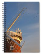 Windmill At Dusk On The Norfolk Broads In Autumn Spiral Notebook