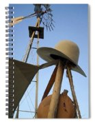 Windmill Canteen And Cowboy Hat 1 Spiral Notebook