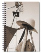 Windmill Canteen And Cowboy Hat 4 Spiral Notebook
