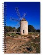 Windmill In El Pilar De La Mola On Formentera Spiral Notebook