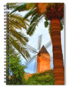 Windmill In Palma De Mallorca Spiral Notebook