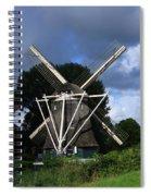 Windmill In Dutch Countryside Spiral Notebook