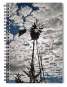 Windmill In The Clouds Spiral Notebook