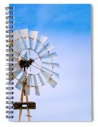 Windmill In Winter Spiral Notebook