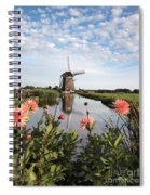 Windmill Landscape In Holland Spiral Notebook