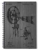 Windmill Patent Barn Wall Spiral Notebook