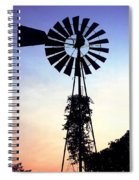 Windmill Silhouette Spiral Notebook
