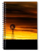 Windmill Sunset Spiral Notebook