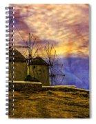 Windmills In Mykonos Spiral Notebook