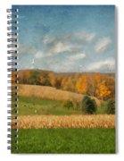 Windmills On The Horizon Spiral Notebook