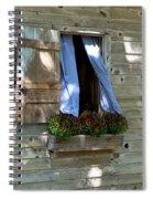 Window And Flowerbox Spiral Notebook
