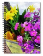 Window Box On A Windy Day Spiral Notebook