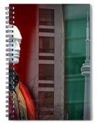 Window Display In Toronto At Christmas Time Spiral Notebook