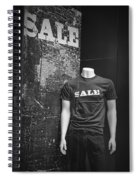 Window Display Sale In Black And White Photograph With Mannequin No.0129 Spiral Notebook