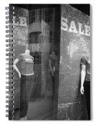 Window Display Sale With Mannequins No.1292 Spiral Notebook